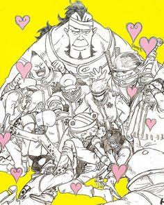 Ein verrücktter Haufen als Crew und Ersatzfamilie die ihren Captain gern haben und das lassen sie ihn auch wissen.♡♡♡