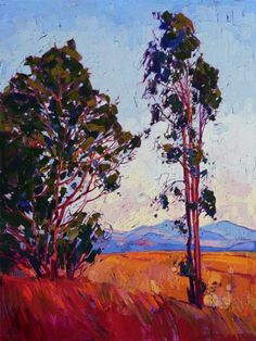 California eucalyptus oil painting by modern impressionist artist Erin Hanson