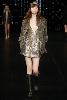 Saint Laurent Spring 2016 Ready-to-Wear Fashion Show - Steffi Soede (NATHALIE)