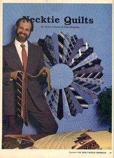 Men's ties quilt by Woof Nanny, via Flickr