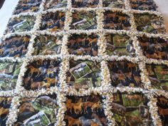 Western Horses Baby Boy Rag Quilt Blanket 36x36. $30.00, via Etsy.