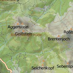 Route anzeigen auf der topografischen Wanderkarte der Alpen