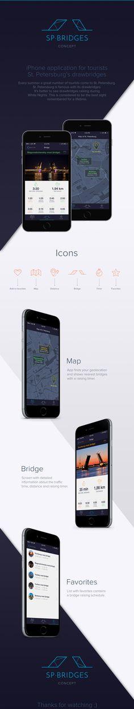 iPhone application for tourists Saint Petersburg's drawbridges.