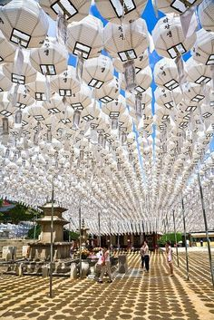 Lanterns at Bongeunsa temple in Gangnam by Seoul Korea, via Flickr