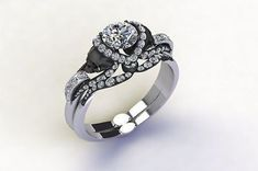 2-65Ct-White-Round-Vapor-Skull-Sterling-Silver-Wedding-Engagement-Ring-with-Band