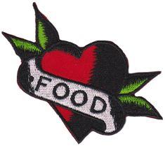 SOURPUSS I HEART FOOD PATCH