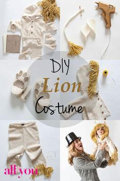 Easy no sew kids lion halloween costume pinterest lion halloween how to make a diy lion halloween costume upsized a million times for me solutioingenieria Image collections
