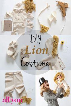 How to make a DIY lion #Halloween costume