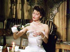 Ava Gardner in Mogambo (1953).