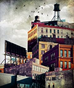 Adding a smaller structure on top of a building Cityscapes by Tim Jarosz