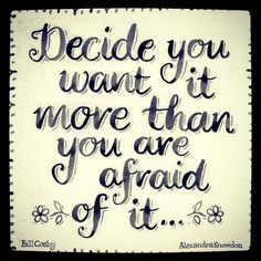 "Happy (almost) weekend gorgeous! ""Decide you want IT more than you are afraid of it ..."" What is that ""IT"" for you?! Let us know below in the comments! Focus on your ""IT"" and have a SPARKLY weekend! Xo @SPARKLYSOULINC #inspiration #sparklysoulinc #sparkleboost"