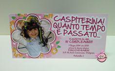 Un invito vivace come il sorriso di una bimba per il diciottesimo compleanno di Antonella