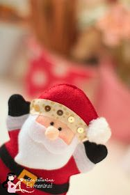 """Ho Ho Ho!  Outubro já tem cheirinho de Natal! Vamos craftar?     O molde desse e de outros motivos natalinos estão na aba """"Moldes"""", logo aci..."""