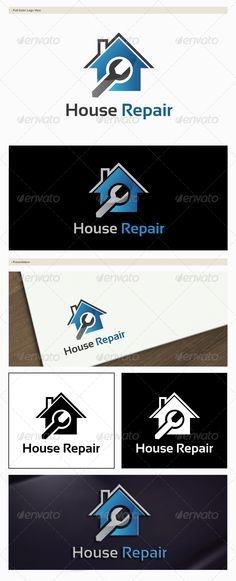 House Repair Logo #GraphicRiver House Repair is a fully layered logo template, especially designed for your company. -100% Customizable -All colors and text can be modified. Vector logo – Resizable for easy editing – AI, EPS files Font Used – Sansation .dafont /sansation.font Created: 26 November 13 Graphics Files Included: Vector EPS #AI Illustrator Layered: No Minimum Adobe CS Version: CS3 Resolution: Resizable Tags builder #building #construction #mortgage #properties #realty #residential