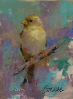 Finch by Mike Beeman Pastel ~ 8 x 6