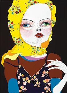 girl as sorcery figure | Del Kathryn Barton | 2005