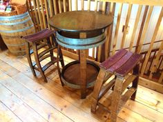 Whiskey Barrel Pub Table Handcrafted From A Whiskey Barrel by