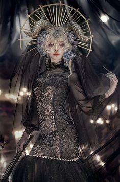 もず on - Marie Henry Style Dark Fantasy, Fantasy Art, Character Inspiration, Character Art, Mode Lolita, Fantasy Photography, Fantasy Costumes, Fantasy Dress, Photo Reference