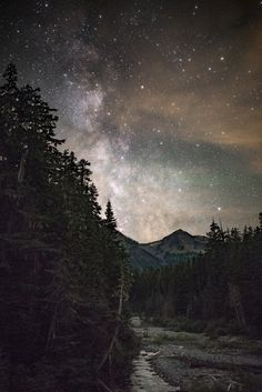 MiKEY HUFF — Milky Way as seen from Mt. Rainier.