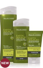 Paula's Choice Earth Sourced System---This toner is my new favorite!  With Mario Badesco Keratoplast cleanser and Fresh Soy Moisturizer and L'Oreal Youth Code serum (and different eye creams)-Kelsey