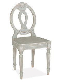 Pair of Antigua Fluted Dining Chairs from Updated Classic: Furniture & Accents on Gilt