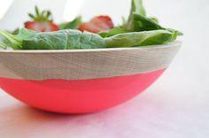dipped salad bowls