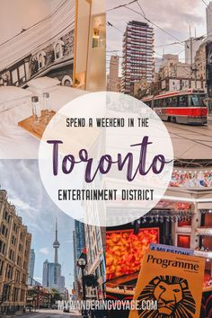 Toronto is the cultural hub of Canada. Enjoy the city life and discover urban treasures by spending the weekend in the Toronto Entertainment District. Canada Travel, Travel Usa, Canada Destinations, Toronto Travel, Prince Edward Island, Banff National Park, Travel Guides, Travel Tips, Weekend Getaways