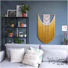 Large Macrame Wall Hanging Macrame Curtains Macrame Wall