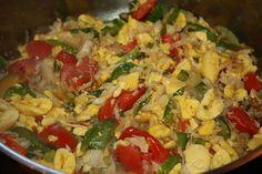 Jamaican national dish ackee and saltfish Jimaca Recipes, Indian Food Recipes, Gourmet Recipes, Vegetarian Recipes, Cooking Recipes, Healthy Recipes, Ethnic Recipes, Fish Recipes, Jamaican Cuisine