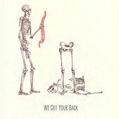 We got your back! #chiropractor #humor