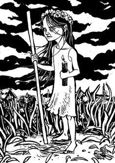 """Cicha. Slavic demon"" by Maszkai"