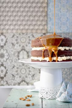 Salted Caramel Cake #recipe