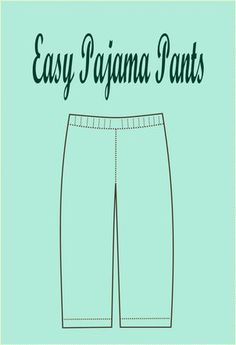 Free sewing pattern: A free tutorial for a DIY easy pajama pants for kids.  #isew #sewing