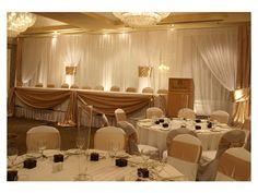 ambientacion de eventos con livings en color dorado - Buscar con Google Color Dorado, Gold Party, 50th Anniversary, Gold Wedding, Curtains, Table Decorations, Wedding Dresses, Inspiration, Furniture