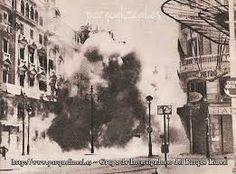 Bombardeo en Madrid.