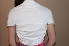 T-Shirt Shrug Back