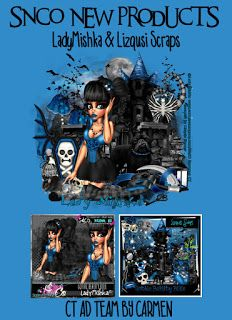 Carmen designs: Gothic Beauty Blue