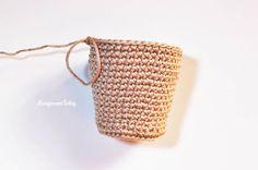 Amigurumi creamy choco bear crochet pattern - waffle cup