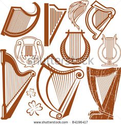 Harp Collection - stock vector