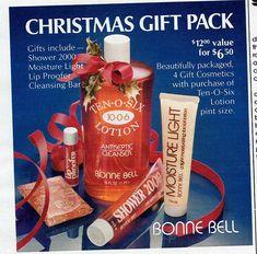 1982 Bonne Bell Christmas gift pack ad