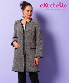 Manteau moderne grande taille femme