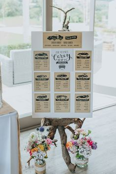 Non-Traditional Country Party Barn Wedding Yorkshire Wedding Table Themes, Wedding Table Centerpieces, Wedding Decorations, Wedding Ideas, Rustic Wedding Seating, Seating Chart Wedding, Event Planning Tips, Wedding Planning, Car Themed Wedding