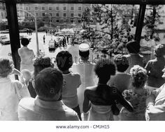 Aug. 16, 1977 - Memphis, TN, U.S. - People waited inside and outside near the emergency entrance at Baptist Memorial Hospital for news of Elvis Presley August 16, 1977. Fans began gathering when news of Presley's death was made public about 4 p.m.