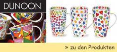 Seit 1973 fertigt die schottische Manufaktur Dunoon Ceramics Limited, Becher, Mugs und Dunoon Tassen. Mittlerweile ist die Produktion in Schottland von DUNOON eingestellt und der weltweite Bedarf wird komplett in England, Staffordshire hergestellt. Es werden alle Artikel ausschliesslich aus Dunoon Fine Bone China hergestellt; das im 18. Jahrhundert in England entwickelte Porzellan gilt als das beste und edelste Porzellan der Welt. Die exklusiven Becher sind auch bekannt unter Dunoon Mugs.