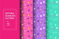 This digital product contains: - Ai format - EPS 10 (Compatible with other vector editor programs) - High resolution JPG. Business Brochure, Business Card Logo, Memphis Pattern, Creative Sketches, Graphic Patterns, Pencil Illustration, Paint Markers, Repeating Patterns, Watercolor And Ink