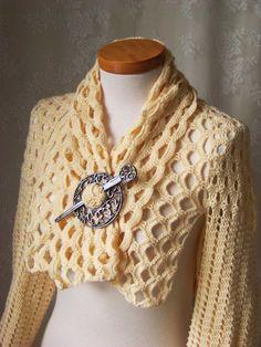 crochet shrug patterns free to print   Many Patterns » CROCHETED SHRUG PATTERNS