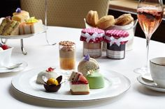 Petit pastries for Afternoon Tea, at The Connaught.
