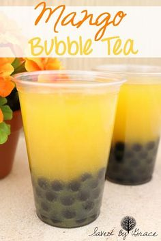 mango bubble tea recipe- make your favorite right at home! mango bubble tea recipe- make your favorite right at home!,Food and drink mango bubble tea recipe- make your favorite right at home! Summer Drinks, Fun Drinks, Healthy Drinks, Healthy Food, Beverages, Refreshing Drinks, Mixed Drinks, Nutrition Drinks, Healthy Recipes