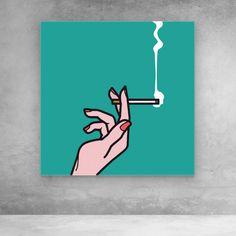 Pop Art Mad Men Smoking Canvas Wall Art