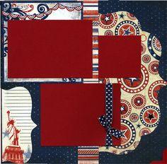 Home Of The Brave Premade Patriotic by SusansScrapbookShack